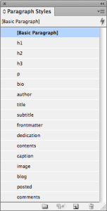 Style Sheet for eBook