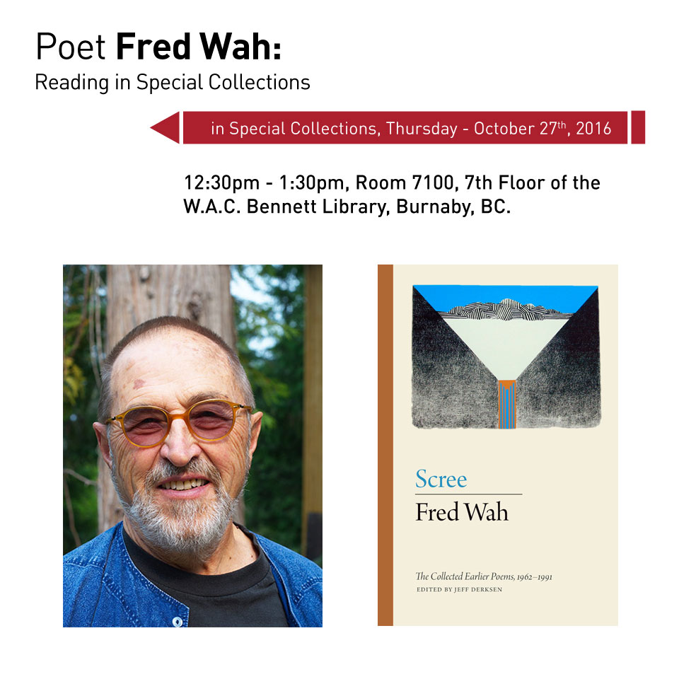 Fred Wah reading in Special Collections